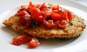 کتلت-مرغ-کریسپی-با-گوجه