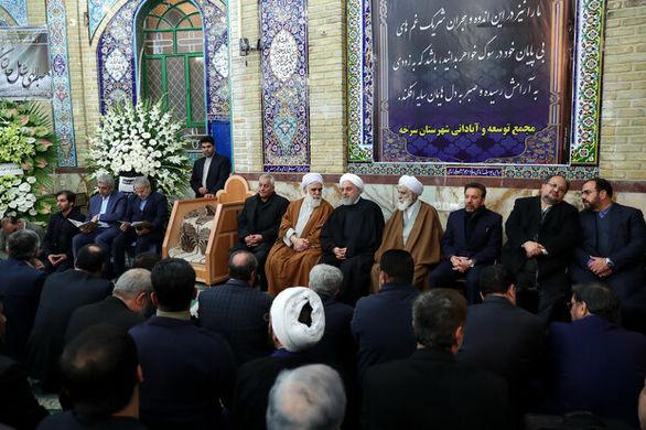 آیین یادبود «صدیقه فریدون» با حضور روحانی برگزار شد