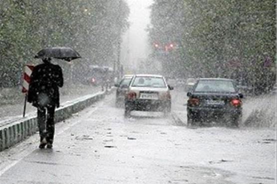 اطلاعیه هواشناسی درباره بارش باران و برف