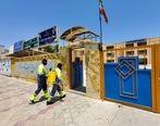 34 مدرسه شهر قشم ضدعفونی شد