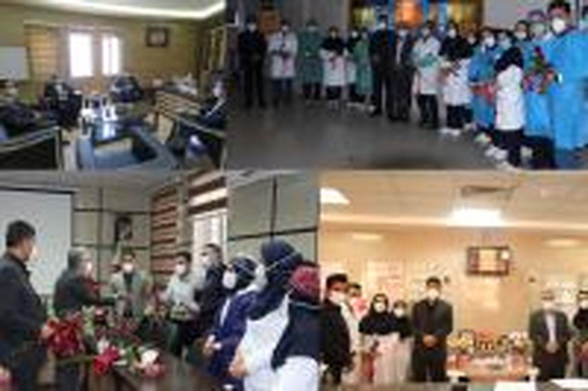 قدردانی مدیران استان های یزد و فارس بانک ایران زمین از کادر درمان