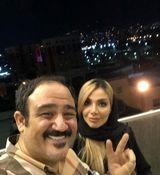 عکس جدید مهران غفوریان در کنار همسر جوانش + عکس