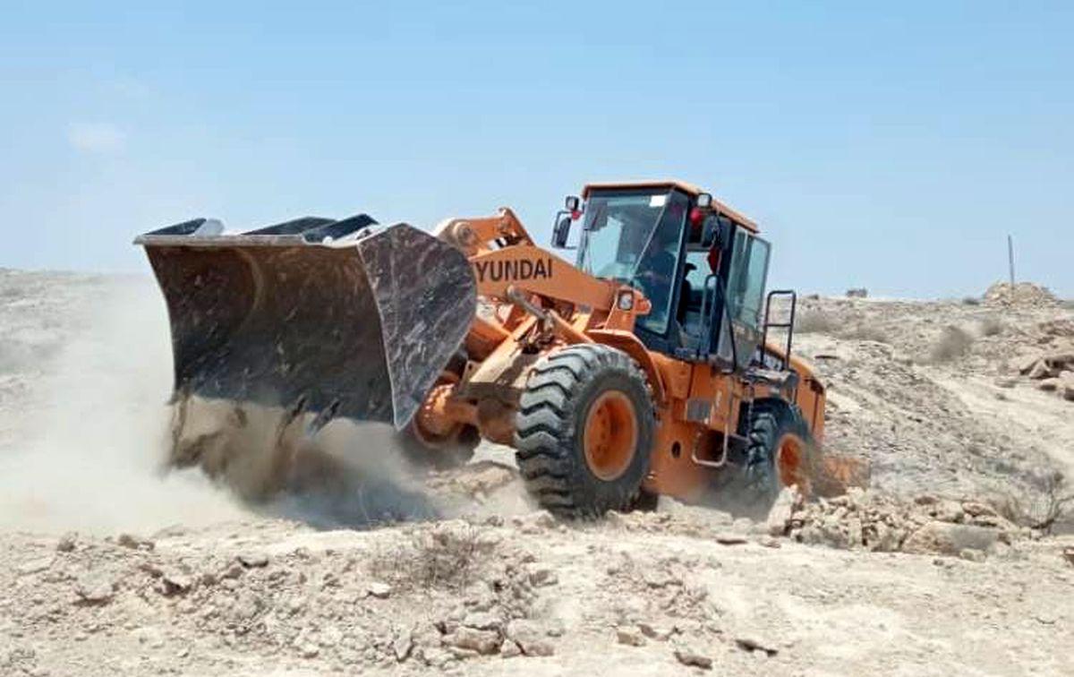 رفع تصرف 41.2 هزار مترمربع اراضی خالصه دولتی به ارزش 41.2میلیارد ریال در روستای رمچاه قشم