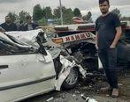احمدزاده تصادف کرد + عکس