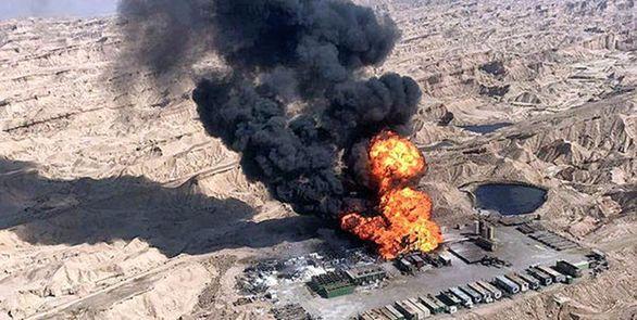 هدر رفت ۴ هزار بشکه نفت خام در حادثه آتش سوزی میدان رگ سفید