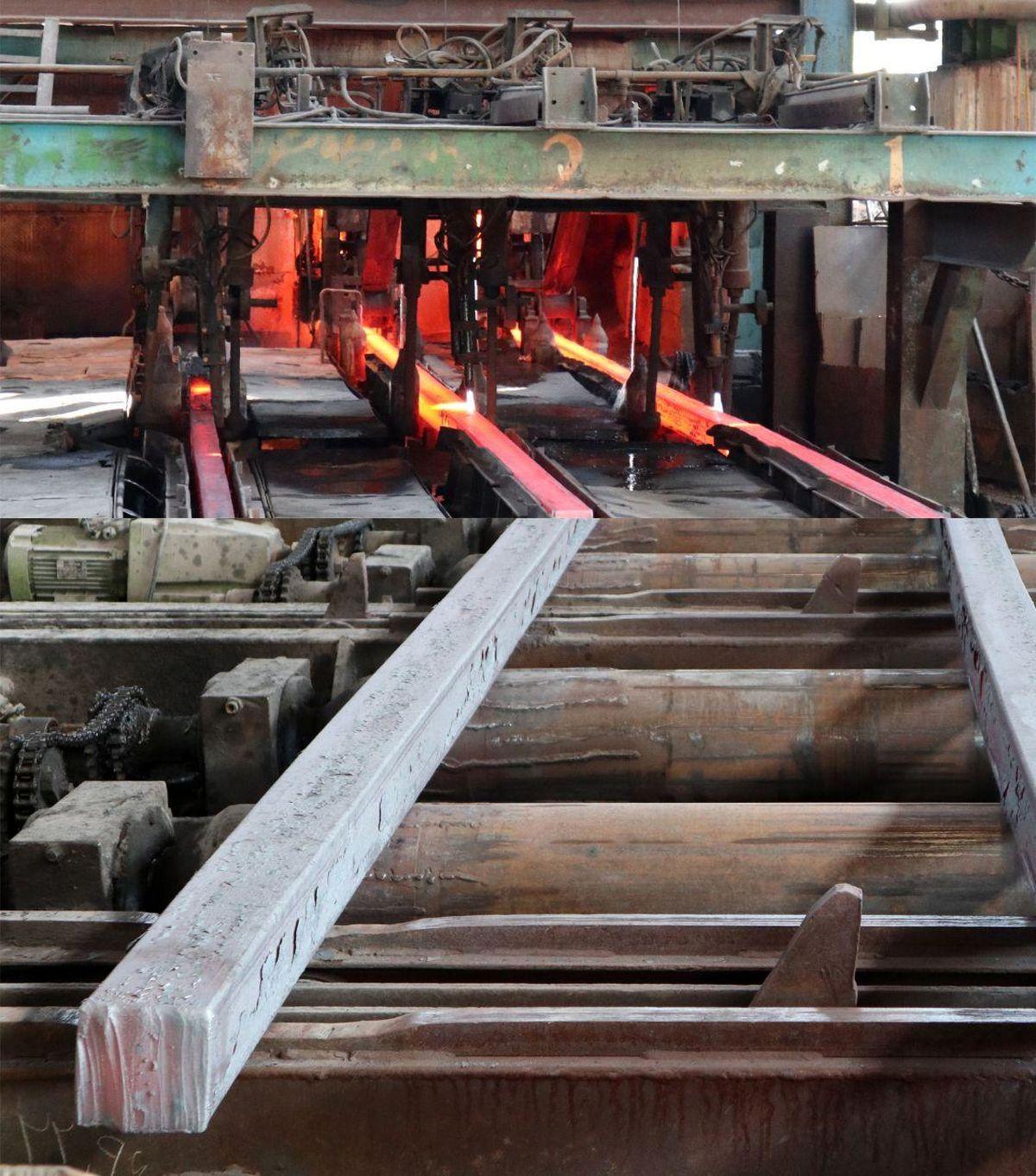 تولید شمش سایز 125 × 125 در مجتمع فولاد صنعت بناب