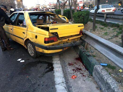 تصادف زنجیرهای خودرو در بزرگراره همت 4 مصدوم بر جا گذاشت