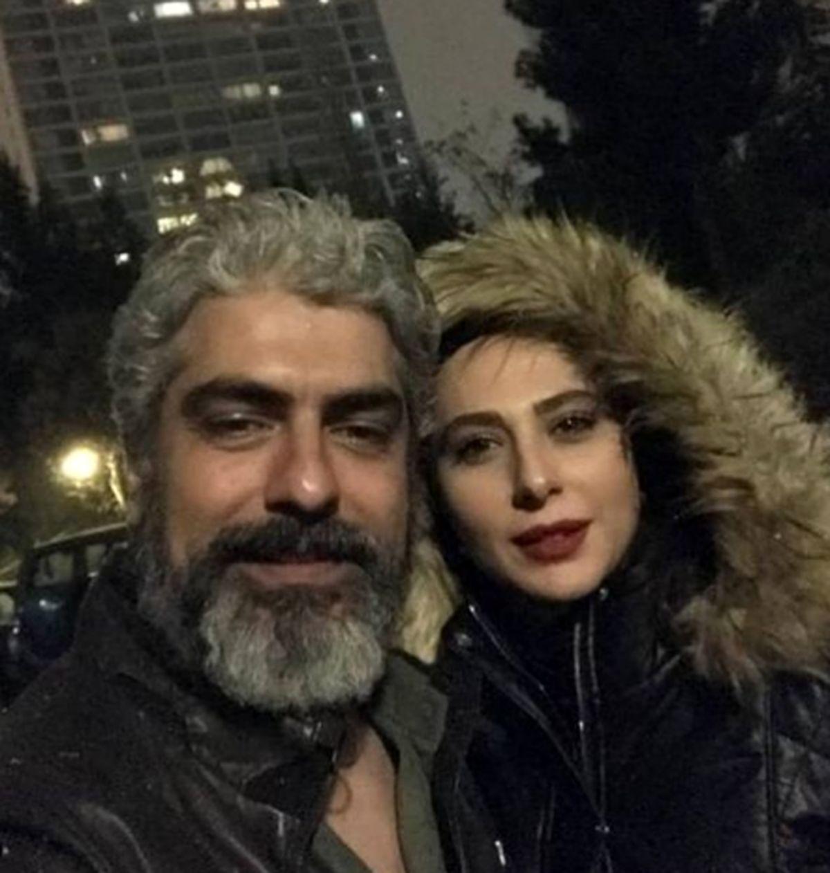 لباس عجیب و منشوری همسر دوم مهدی پاکدل همه را شوکه کرد + عکس
