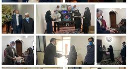 مدیرعامل، معاونان و مدیران سازمان منطقه آزاد قشم جداگانه درمنزل خانواده های شهدای قشم حضور یافتند