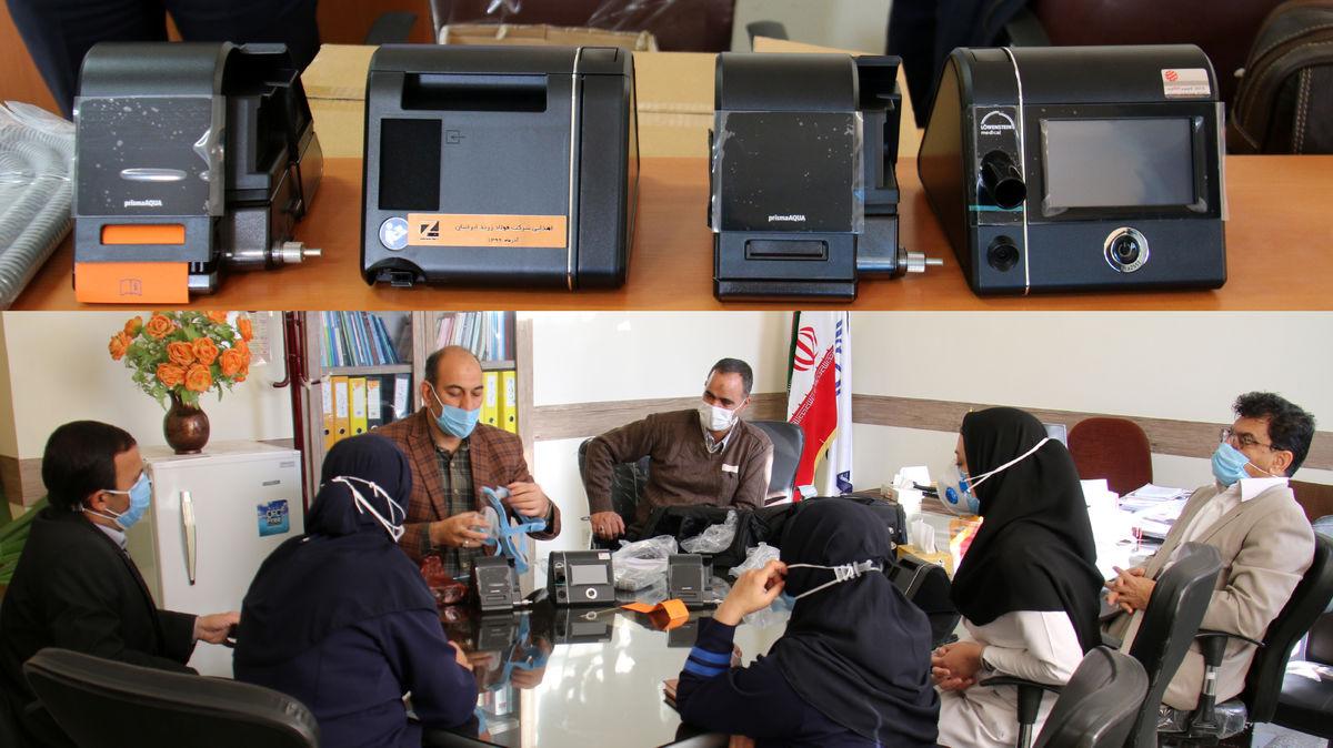 زیسکو، چهار ست تنفسی(BIPAP) به بیمارستانهای زرند و کوهبنان اهدا کرد