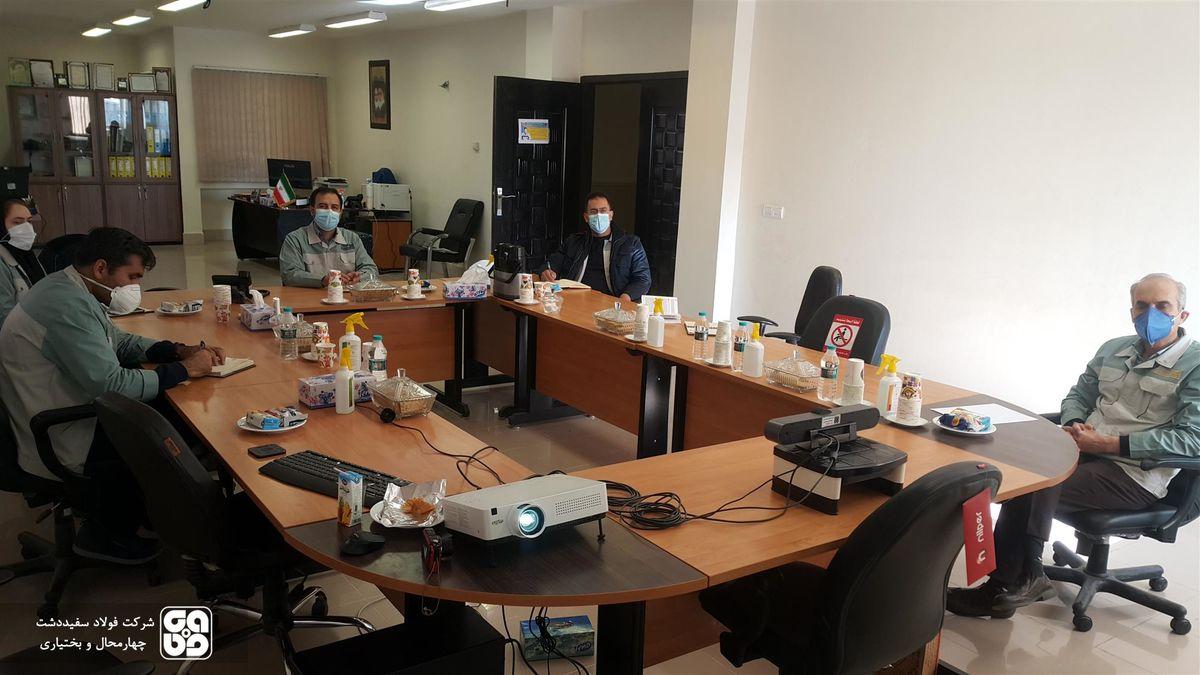 تداوم اجرای آموزش کارکنان شرکت فولاد سفید دشت در شرایط کرونا