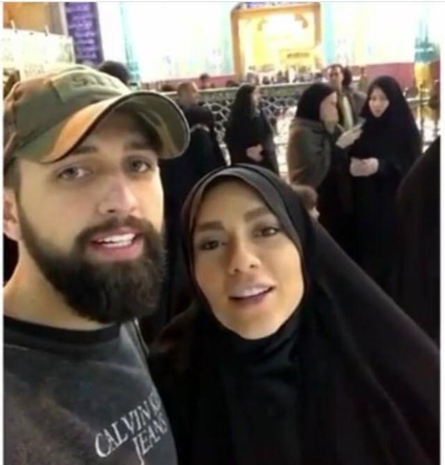 اولین سفر محسن افشانی و همسر جدیدش به یک مکان خاص + عکس