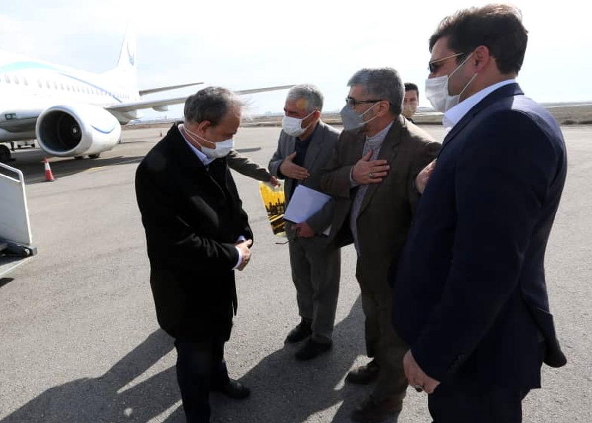 ورود وزیر صمت به اردبیل