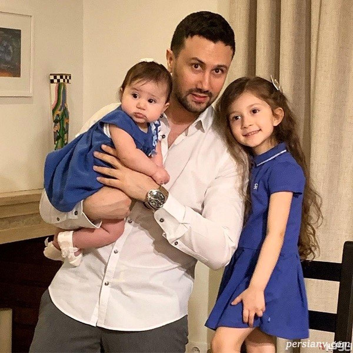 عکس دیدنی از شاهرخ استخری در کنار خانواده همسرش + عکس