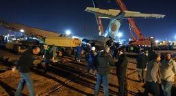 گوشه هایی از عملیات 22 ساعته انتقال هواپیمای حادثه دیده به فرودگاه بندرماهشهر + تصاویر