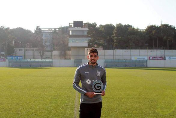 یک ایرانی بهترین بازیکن ماه فوتبال آذربایجان شد+ عکس
