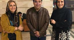 خداداد عزیزی و همسرش + عکس دونفره