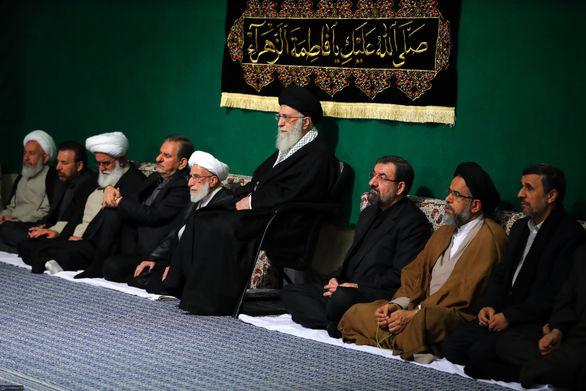 دومین شب مراسم عزاداری حضرت فاطمه زهرا (س) باحضور رهبر انقلاب