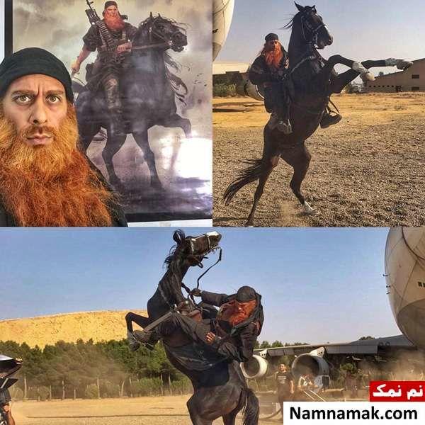 ارشا اقدسی در نقش یک داعشی