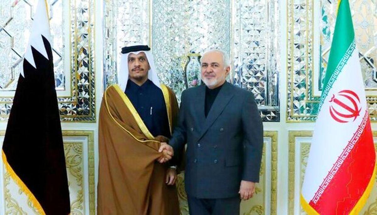 ظریف و وزیر خارجه قطر تلفنی گفتگو کردند
