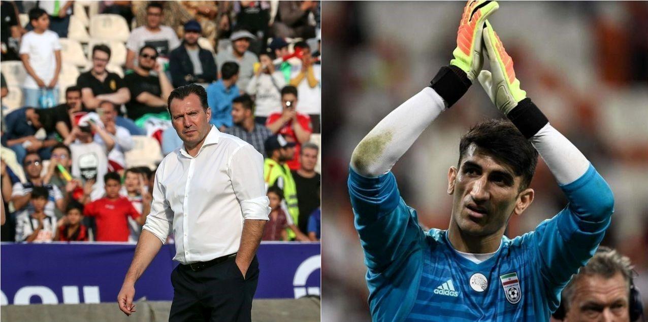 ویلموتس در آستانه دیدار با دروازهبان تیم ملی فوتبال ایران