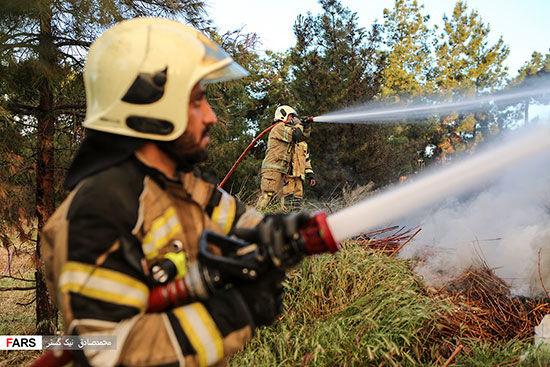 آتشسوزی در اتوبان تهران - کرج
