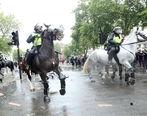 زد و خورد پلیس با معترضان ضد نژادپرستی در لندن + فیلم