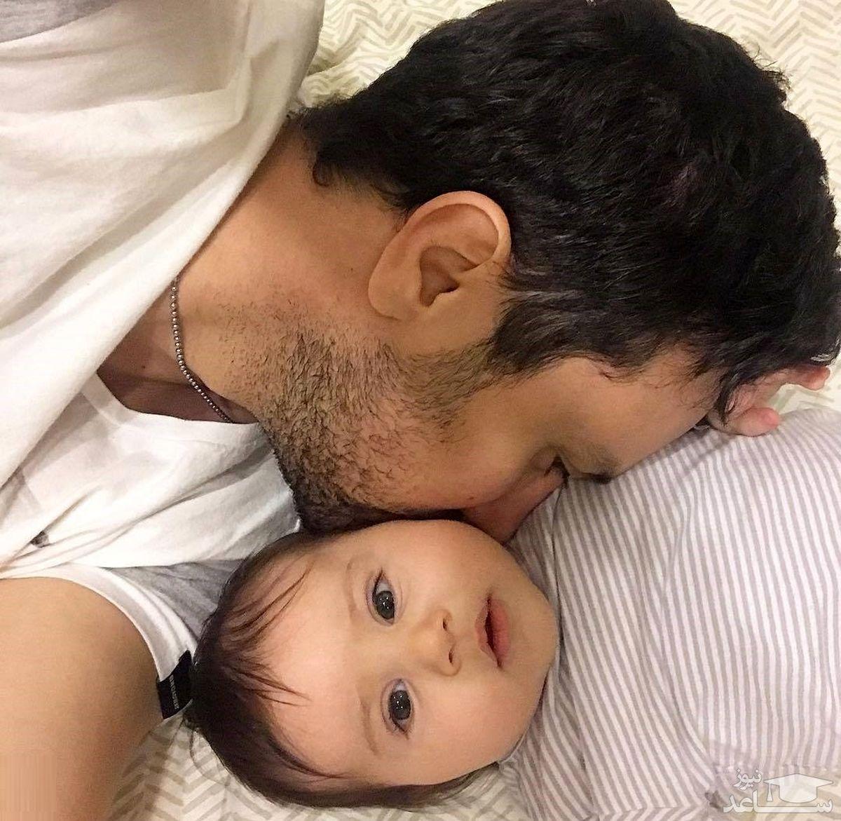 کشتی گرفتن شاهرخ استخری با دخترش نبات + فیلم