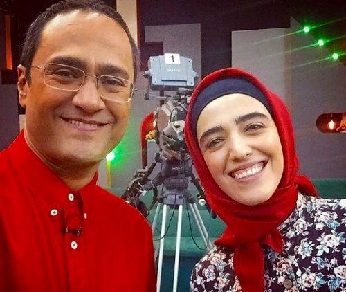 کشف حجاب بازیگر برنامه خندوانه در خارج از ایران + تصاویر