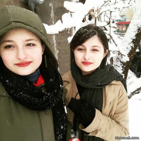 سارا و نیکا در برف