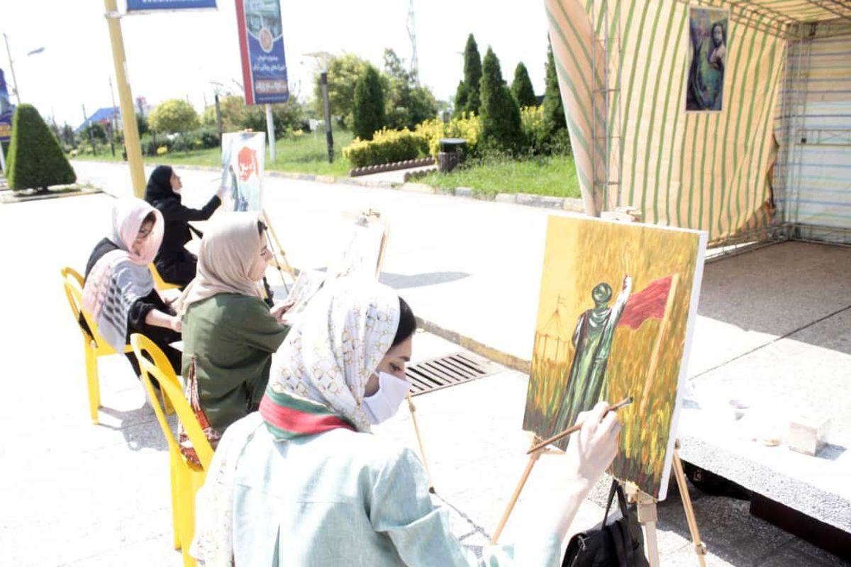 برپایی کارگاه نقاشی و نمایشگاه عکس عاشورایی در منطقه آزاد انزلی