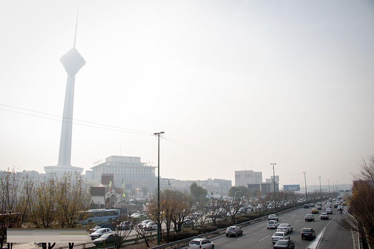 آخرین وضعیت آلودگی هوای تهران 10 اسفند