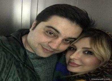 عکس لورفته نیوشا ضیغمی در آغوش همسرش + بیوگرافی و تصاویر