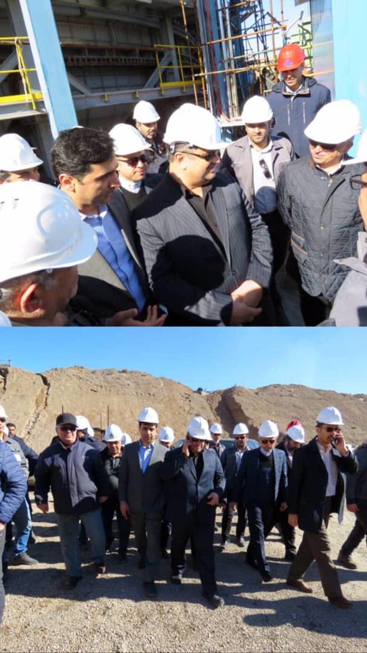 بازدید فرماندار خواف از کارخانجات شرکت صنعتی و معدنی توسعه فراگیر سناباد