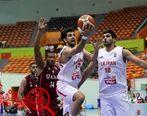 شفر تماشاگر بسکتبال ایران و قطر