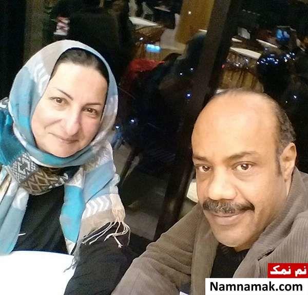 سیروس کهوری نژاد و همسرش آذر طهماسب نظامی