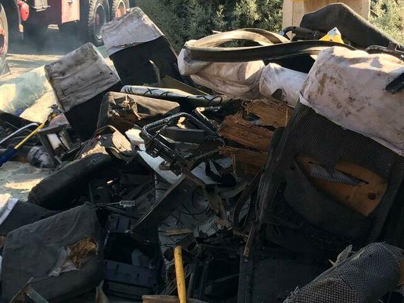 آخرین آمار کشته های حادثه واژگونی اتوبوس دانشگاه آزاد
