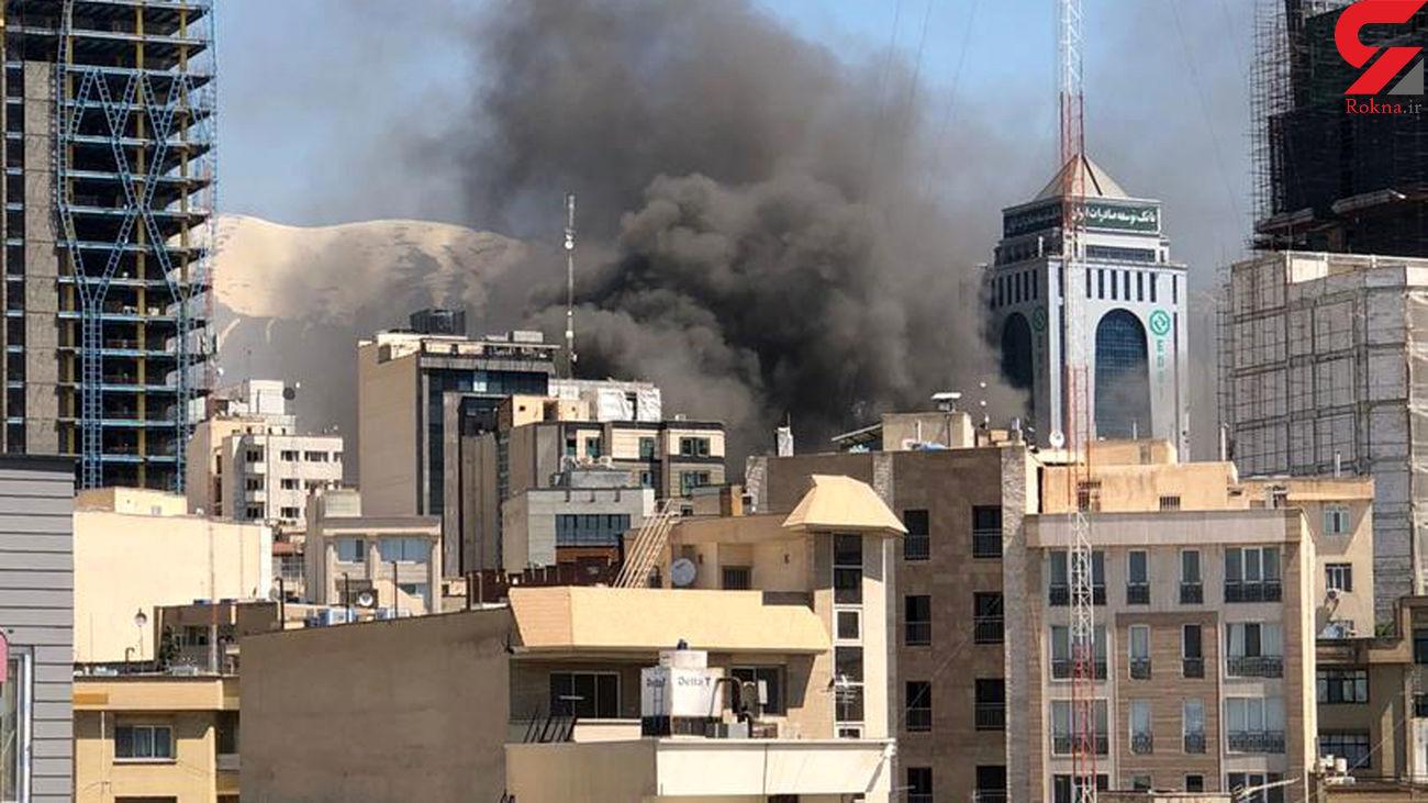 فیلم اختصاصی از آتش سوزی هولناک در وزرای تهران / آسمان ناگهان دودی شد + جزییات