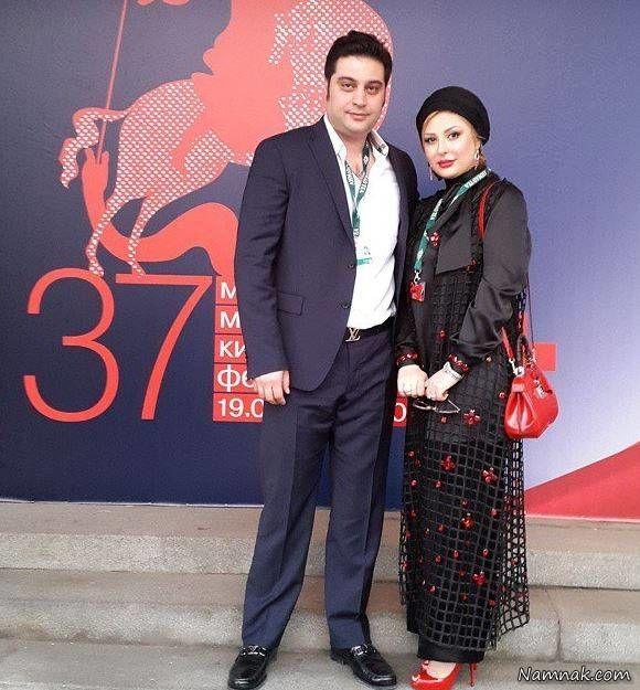 نیوشا ضیغمی و همسرش در مسکو