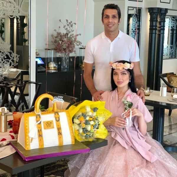 جشن تولد لوکس همسر سپهر حیدری در دبی + عکس