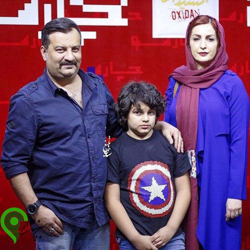 وی با همسر و پسرش