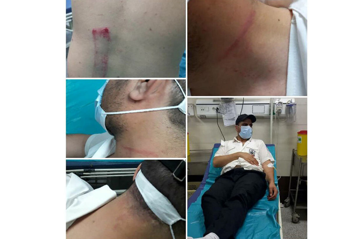 کتک کاری بیمار با مسئول بیمارستان در قزوین حاشیه ساز شد + عکس