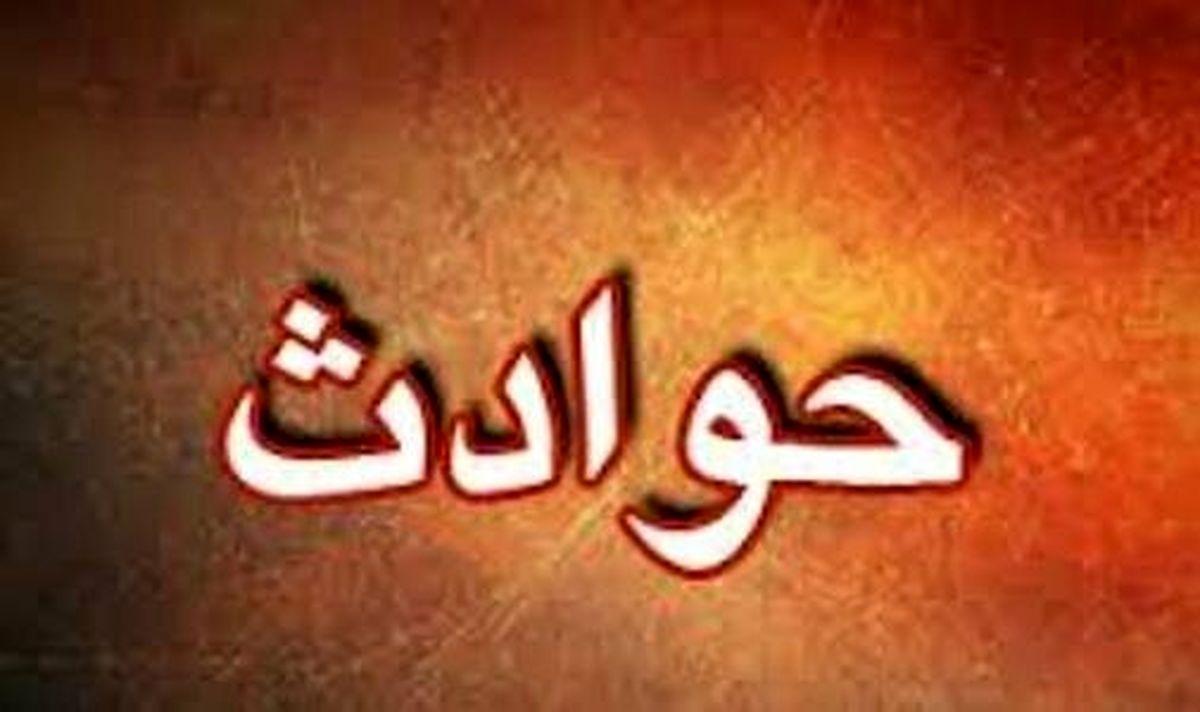 ریزش بهمن در جاده امامزاده داوود