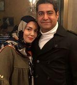 گریه زاری شوهر آزاده نامداری در مراسم چهلم همسرش + فیلم
