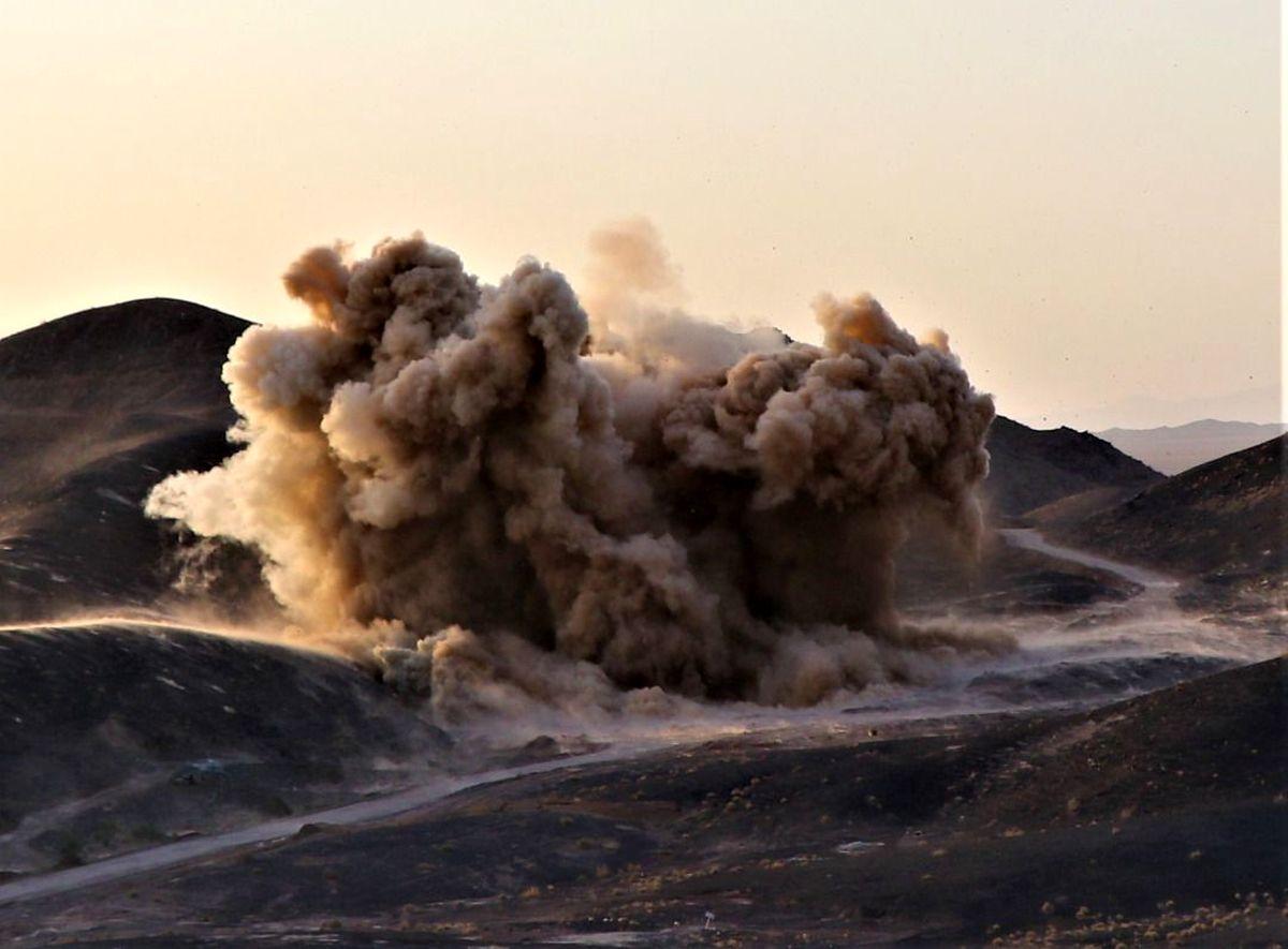 دومین مرحله آتشباری در معدن طلای هیرد