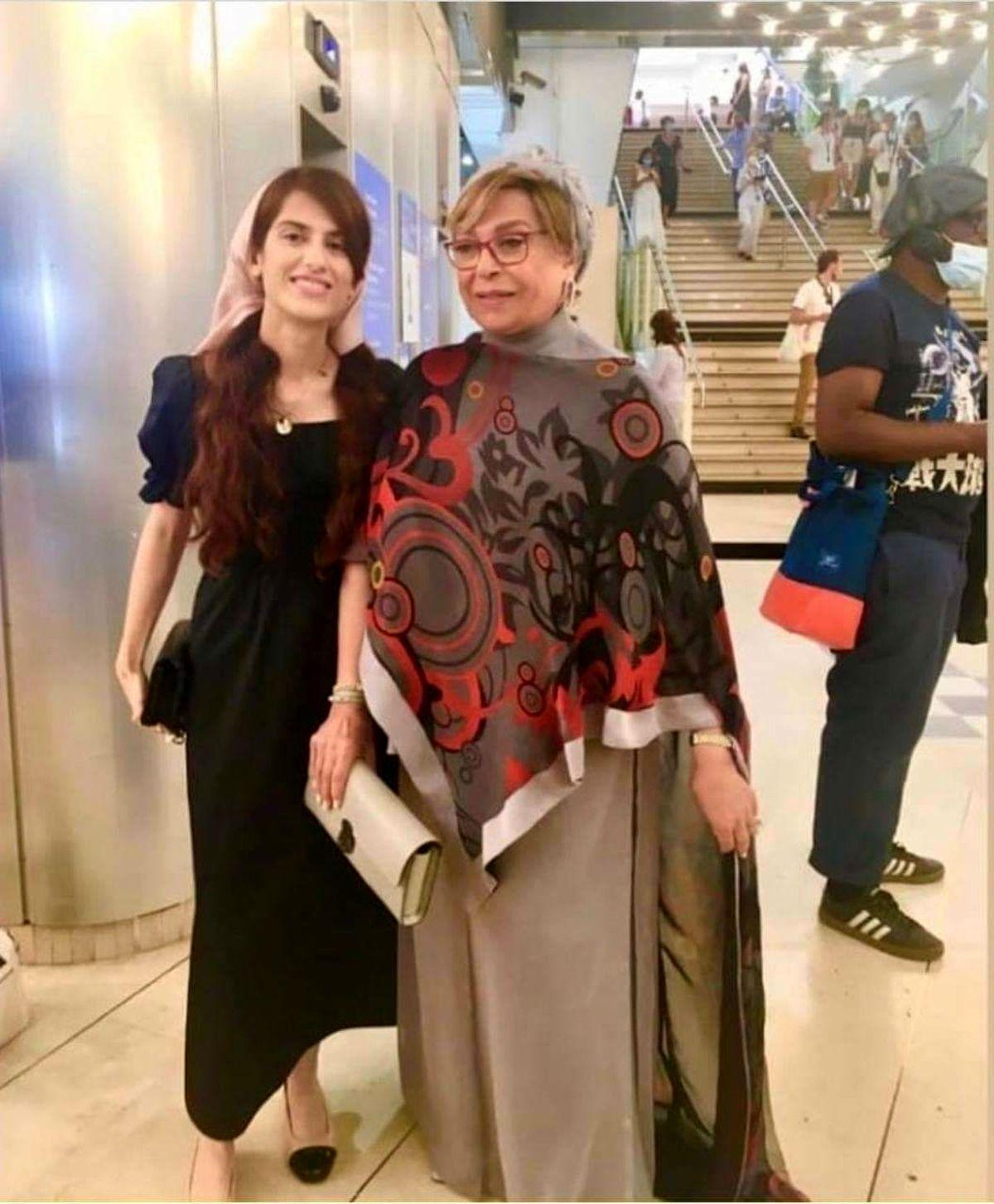عکس لورفته از گوهر خیراندیش و دختر اصغر فرهادی روی فرش قرمز + عکس