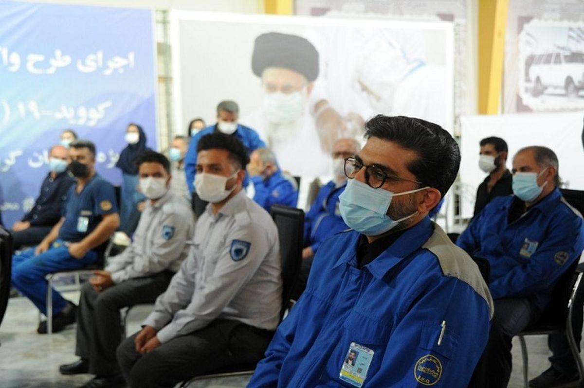 اتمام واکسیناسیون کارکنان سایت مرکزی ایرانخودرو