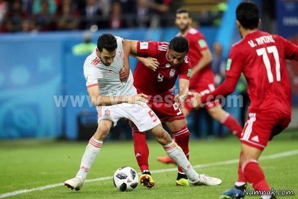 امید ابراهیمی در بازی اسپانیا