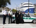 نیروی انتظامی و اهدای ۱۱۰ شاخه گل به زنان در جشن نیمه شعبان