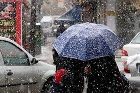 شنبه تهران برفی و بارانی است